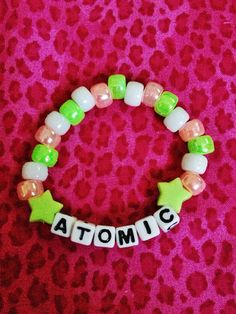 ATOMIC beaded kandi bracelet on Etsy, $3.00