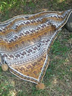 """Купить Шаль """"Караван"""" - шаль вязаная, шаль спицами, подарок женщине, ручное вязание"""
