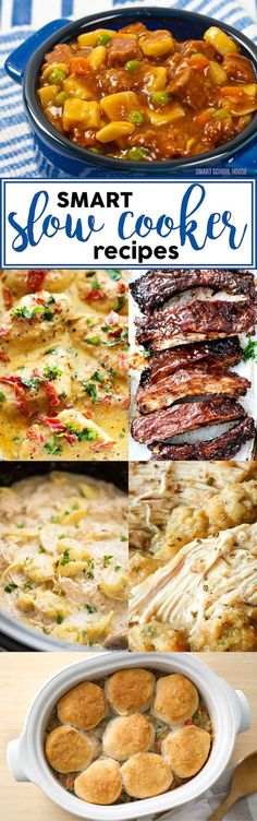 Smart Slow Cooker Recipes - Gather the ingredients in advance, and place them all in a slow cooker, and let the time pass!