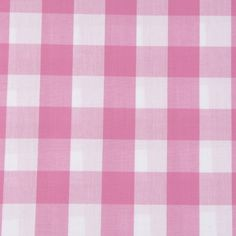 140cm wide 8mm Pink Polycotton Gingham Fabric