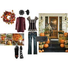 Autumn outfit...looooooove that top!