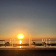 Θεσσαλονικη Νοεμβριου 6, 2015....ΗΛΙΟΣ κ ΦΕΓΓΑΡΙ Macedonia Greece, Thessaloniki, Celestial, Sunset, City, Outdoor, Beautiful, Outdoors, Cities