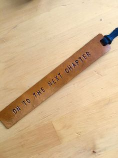 Leather Bookmark Retirement Gift Graduation by LoveThatLeather