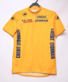 Vintage Le Tour de France Castelli Credit Lyonnais cycling jersey ee6f31e73