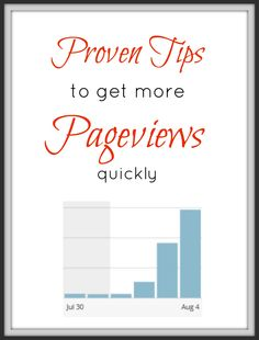 proven tips to get more pageviews on your blog quickly. This is what I needed to grow my blog traffic and pageviews easy and fast.