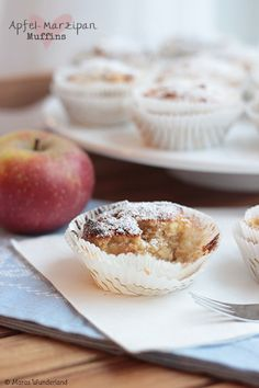 Apple marzipan muffins recipe. These are yummy!