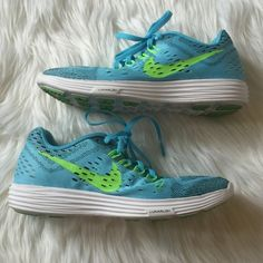"Nike Lunarlon Blue Shoes Size 7 I wore them only once. Excellent Condition! Please make offers through the ""Offers"" button only  I give discounts on bundles, just ask Sorry, no trades! Nike Shoes Athletic Shoes"