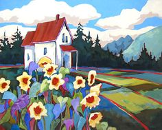 """Country Home"" painting by Carolee Clark"