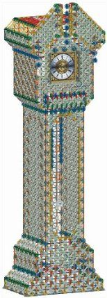 K'NEX Grandfather Clock by K'NEX. $794.53. Stands 6+ feet tall. Over 9,000 K'NEX parts. For ages 16+. Working clock face, swinging pendulum and sound chimes. Largest K'NEX set ever created. From the Manufacturer                Take on the ultimate K'NEX building challenge with the Grandfather Clock building set! With over 9,000 K'NEX parts and standing over 6 feet tall, the Grandfather Clock is the LARGEST K'NEX set ever created. Follow the color-coded instructions for hours ...