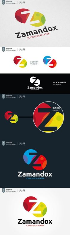 Z Letter Logo. Corporate Logo Template Design