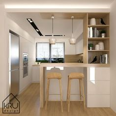 contemporary kitchen knobs and pulls Simple Kitchen Design, Kitchen Room Design, Home Room Design, Kitchen Layout, Home Decor Kitchen, Interior Design Kitchen, Kitchen Knobs, Kitchen Ideas, Small Modern Kitchens