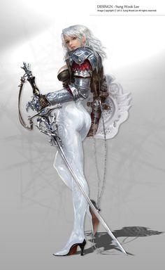 Concept Art: Swan - 2D Digital, Concept art, FantasyCoolvibe – Digital Art Concept Art by Lee Sung Wook