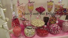 Sweets displayed on our candy cart x