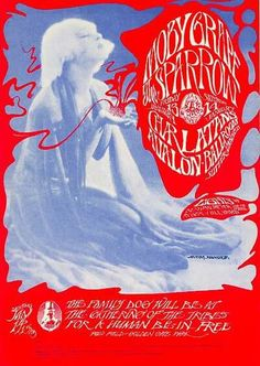 Moby Grape, Sparrow (later changing their name to Steppenwolf), and The Charlatans at the Avalon Ballroom, 1967. Artists: Stanley Mouse and Alton Kelley.