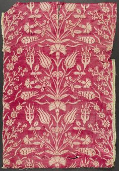 Rose brocade, Turkish, 16th century.