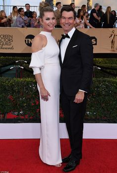 Hollywood duo: Rebecca was joined by dapper husband Jerry O'Connell...