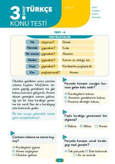 3. Sınıf Yaprak Test Türkçe İpucu