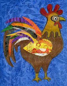 that artist woman: How to do a Rooster Wycinanki and Variations