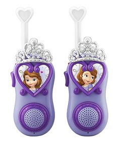 Love this Sofia The First Walkie-Talkie - Set of Two on #zulily! #zulilyfinds