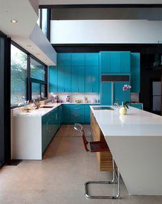 7- cozinha armário azul moderna