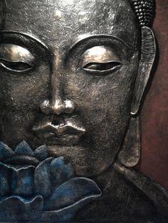 clay Buddha painting