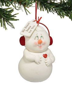 Love this Snowman 'My Heart Beats for You' Ornament on #zulily! #zulilyfinds $7.49