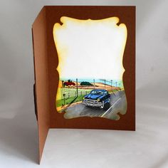 By Dee Caria. Look Retro, Dee Dee, Masculine Cards, I Card, Vintage Cars, Craft Cards, Ideas, Classic Cars, Retro Cars