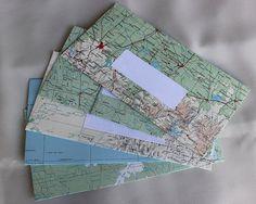 Handmade envelopes. Australian atlas by DragonzWenchEmporium