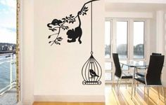 Tree Branch With Animals Vinyl Wall Art Decal (WD-0134)Buy Now$25.99