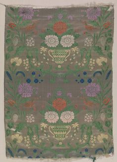 Textile Length Unknown artist, Portuguese; Spanish, Andalusia Textile Length, ca. 1800 Silk satin compound weave S50.155