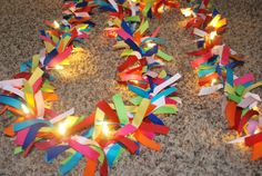 Ribbon Lights Kit - Perfect for birthdays and holidays. You can pick the colors you want or you can buy just the ribbon from her Etsy store for an awesome price! 30th Birthday Celebration Ideas, Holidays And Events, Etsy Store, Birthdays, Ribbon, Party Ideas, Craft Ideas, Kit, Lights