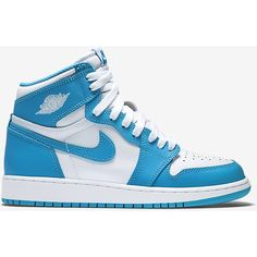 """Great news for the small-footed crowd, the Air Jordan 1 High OG """"UNC"""" will also be releasing in GS sizes! October can't come soon enough. Hit the link in our bio for official images now. Nike Shoe Store, Buy Nike Shoes, Discount Nike Shoes, Nike Shoes For Sale, Nike Factory Outlet, Nike Outlet, Jordan 1 Unc, Original Air Jordans, Nike Basketball Shoes"""