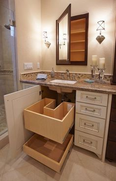 Small bathrooms remodel may seem like a difficult design task to take on; however, these spaces may introduce a clever design challenge to add to your plate. Creating a functional and storage-friendly bathroom may be just what your home needs. #bathroomremodeling