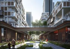 Sejong City Residential Multifunctional Complex on Behance Social Housing Architecture, Architecture Résidentielle, Architecture Visualization, Mix Use Building, Commercial Street, Residential Complex, Urban Planning, Urban Design, Pergola