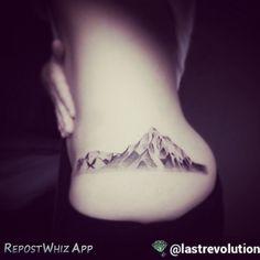 By @lastrevolution via @RepostWhiz app: Alaska mountain #tattoo #mountain #mountaintattoo ...