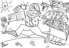 COLOREA CON GLORIA FUERTES Arts And Crafts, Comics, Fictional Characters, Anaya, Ideas Para, Classroom Ideas, School, Literatura, Cat