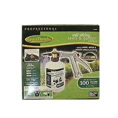 HD Hudson 60000GT Green Thumb Insecticide and Fertilizer Hose End Sprayer by HD Hudson. $24.99. Green thumb 60000gt insecticide and fertilizer hose end sprayer sprays up to 100-gallons. there is no pre-mixing required. choose from 16 mixing ratios from 1 teaspoon to 10 teaspoons. solid stream up to 30-inch. built in anti-siphon valve. insulated grip. durable polymer bottle.