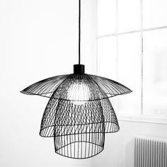 PAPILLON - Lampa wisząca Czarny Ø56cm Forestier
