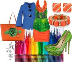 """Bright Crayons"" by liz-higgins ❤ liked on Polyvore"