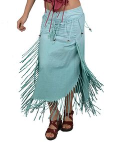 Look at this Jayli Mint Fringe Convertible Skirt - Women on #zulily today!