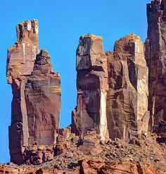 Priest and Nuns Formation, Castle Valley near Moab Utah