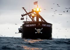We have created a picture gallery of the Time Bandit, which is featured on Deadliest Catch, with her crew. See pictures of the Time Bandit with her crew. Fishing Yachts, Fishing Boats, Discovery Channel, Deadlist Catch, Trains, Fishing Vessel, Living In Alaska, Tug Boats, Sport Fishing