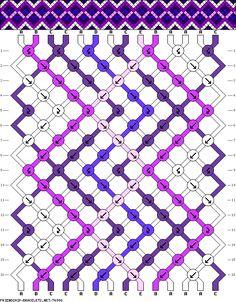 Muster # 76998, Streicher: 14 Zeilen: 16 Farben: 5
