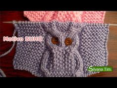 """tejido-con-dos-agujas-22-punto-buho [   """"Knitting chart - Owl - in russian, but understanable"""",   """"Tutorial # Owl Point for Two Needles Scarf ~ CTejidas [Crochet and two needles]"""" ] #<br/> # #Knitting #Charts,<br/> # #Cable #Knitting,<br/> # #Tim #O"""