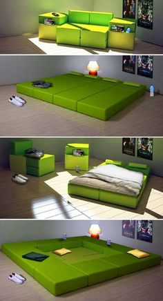 27 Coolest Modular Furniture Designs Modular furnishings pertains to pre-made models that may be combined in various ways to provide a room. Modular furnishings are frequently flat packed for home assembly. Most furnishings businesses ha Modular Furniture, Unique Furniture, Furniture Decor, Furniture Design, Sofa Design, Furniture Stores, Bedroom Furniture, Smart Furniture, Luxury Furniture