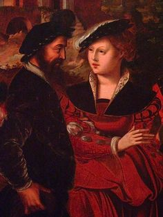 Elegant Couples Dancing in a Landscape by Ambrosius Benson Flemish 1545 Oil