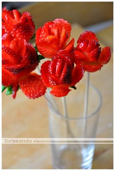 Salseando en la cocina: Bouquet primaveral de fresas con nata - PAP