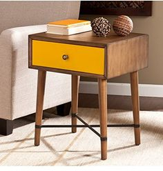 Norwich Accent Table   Yellow