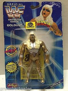 (TAS008400) - WWF WWE WCW nWo Wrestling JusToys Bend-Ems Action Figure - Goldust