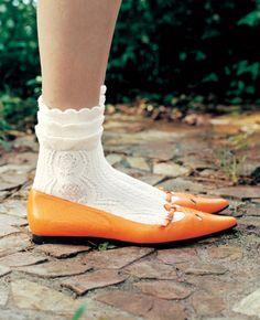 Inspiratie: • kant van de sokjes • de sokjes zelf
